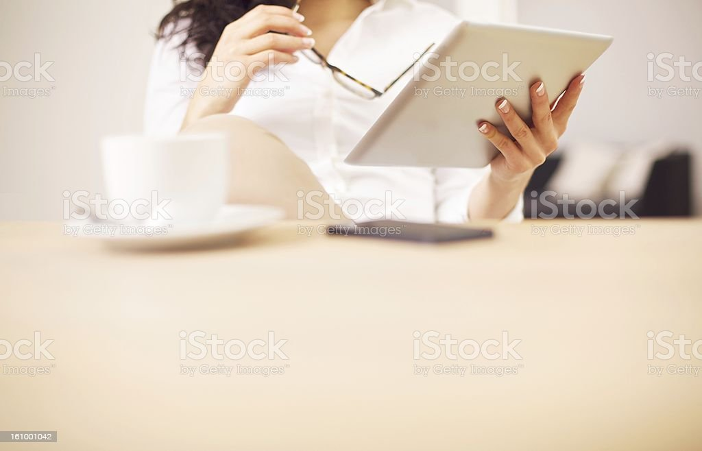 Getting Information for the Presentation Online royalty-free stock photo