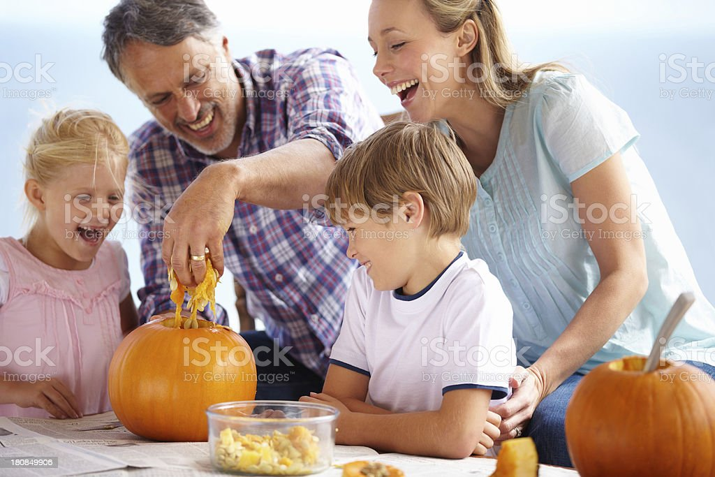 Getting into the spirit of halloween stock photo
