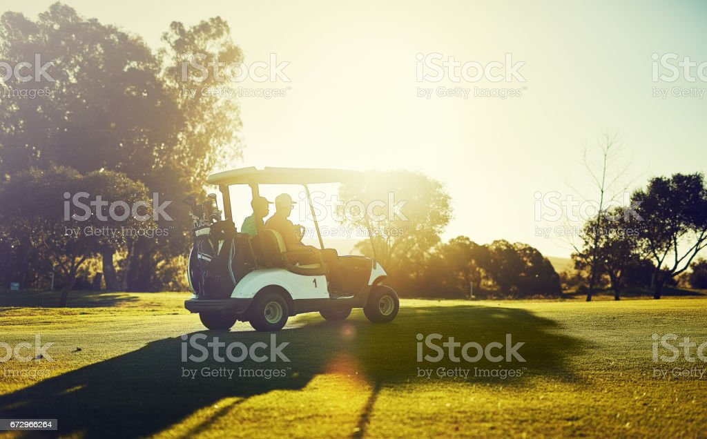 Getting into the swing of things stock photo