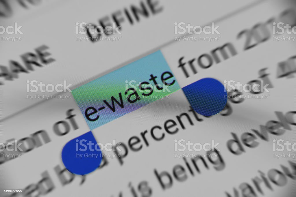 Getting Knowledge about E-Waste Online royalty-free stock photo