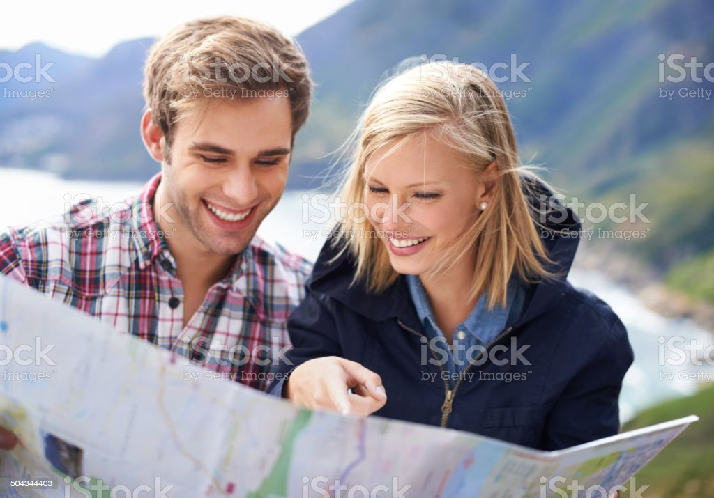 Getting lost can actually be fun stock photo