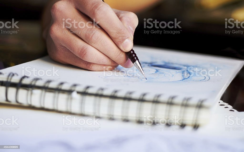 Getting lost in creativity stock photo