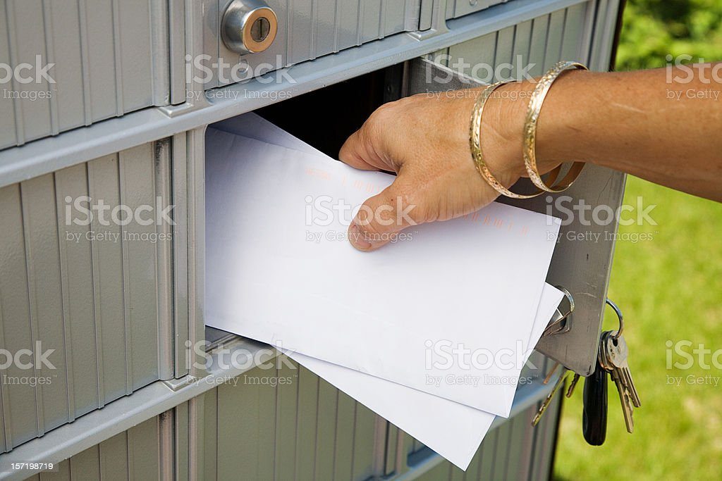 Getting Mail royalty-free stock photo