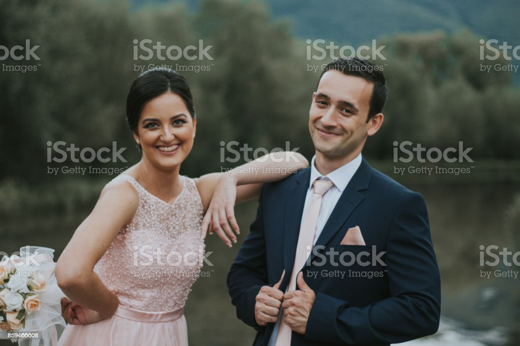 Getting married stock photo
