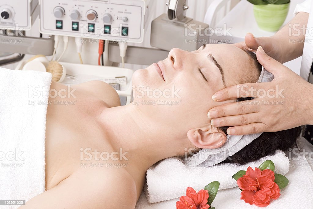 Getting Massage royalty-free stock photo