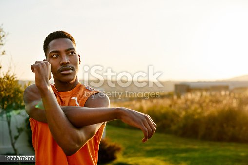 istock Getting mentally and physically prepared for his workout 1277767977