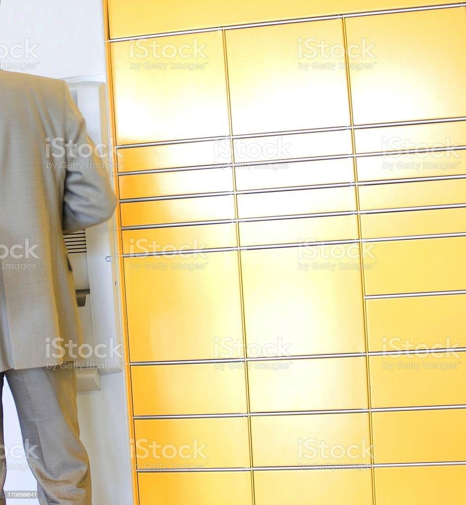 Getting money royalty-free stock photo