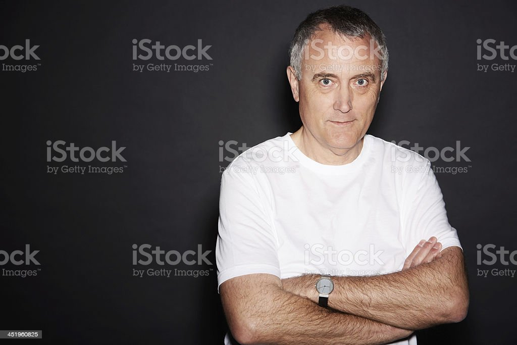 Getting more serious with age stock photo