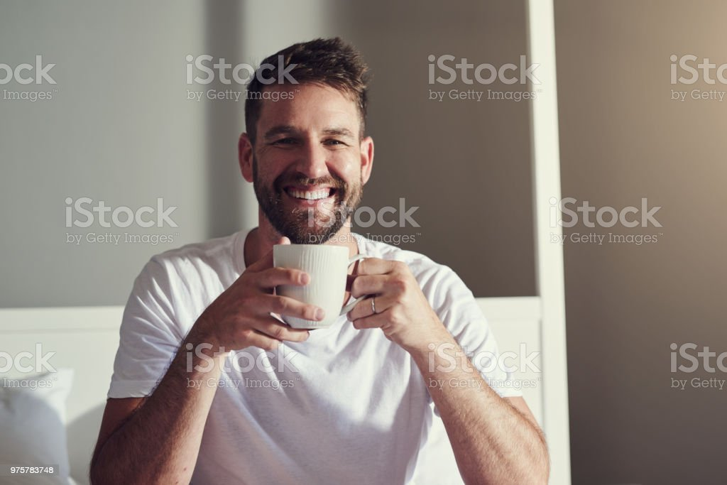 Getting my caffeine intake for the day stock photo