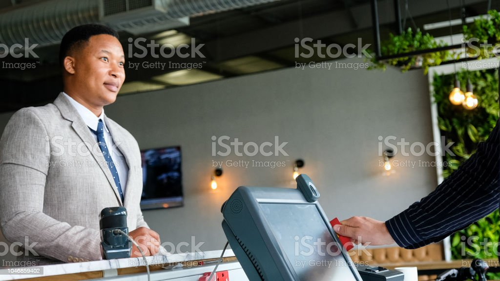 Getting my loyalty points stock photo