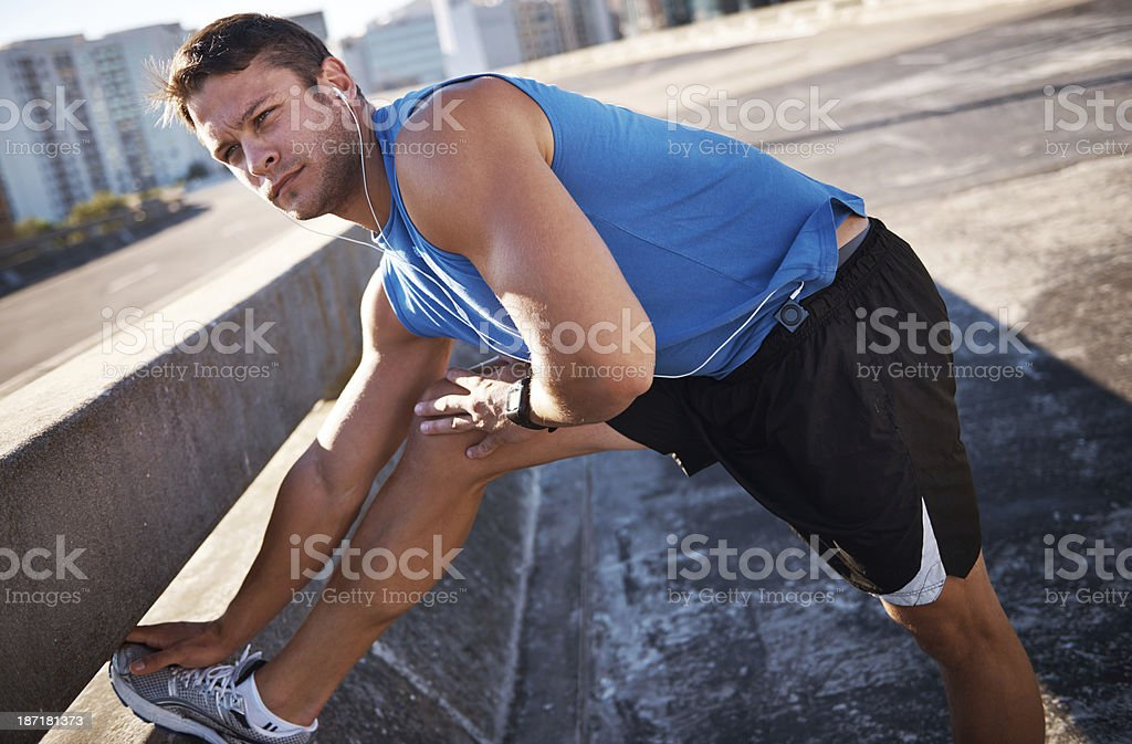 Getting my morning jog out the way royalty-free stock photo