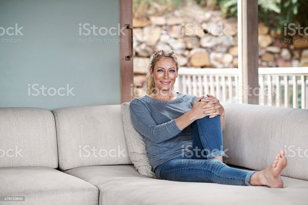 Getting my weekend on stock photo