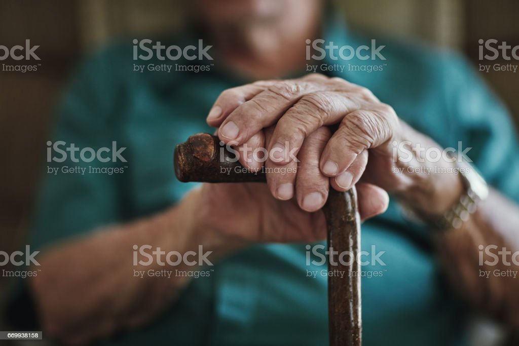 Getting older can bring senior health challenges stock photo