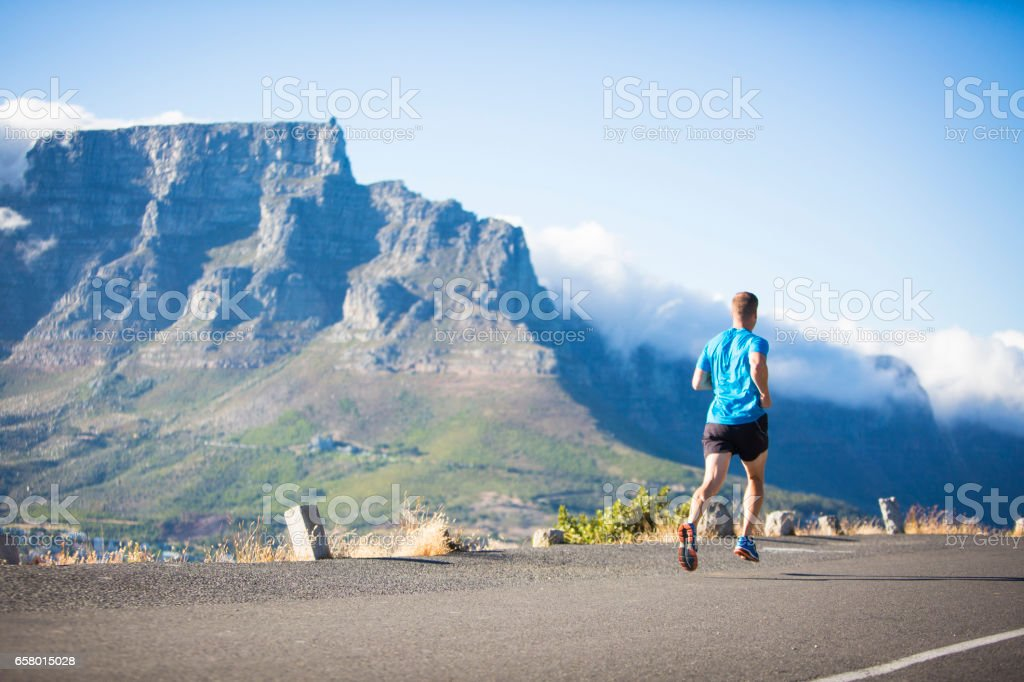 Getting out of the city for a run stock photo