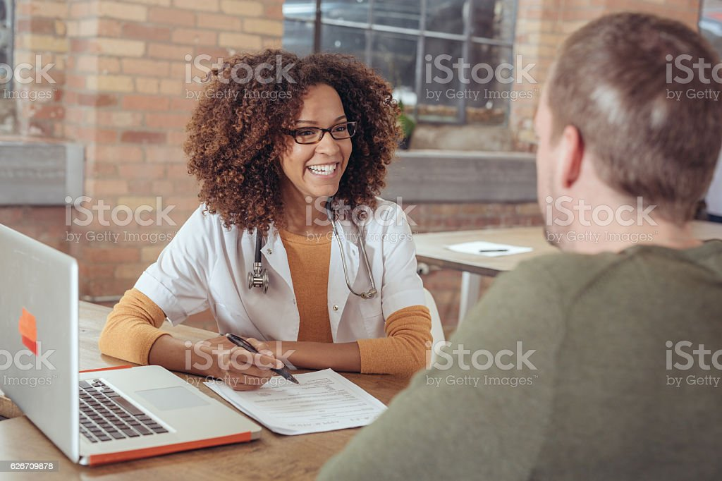 Getting prescription stock photo