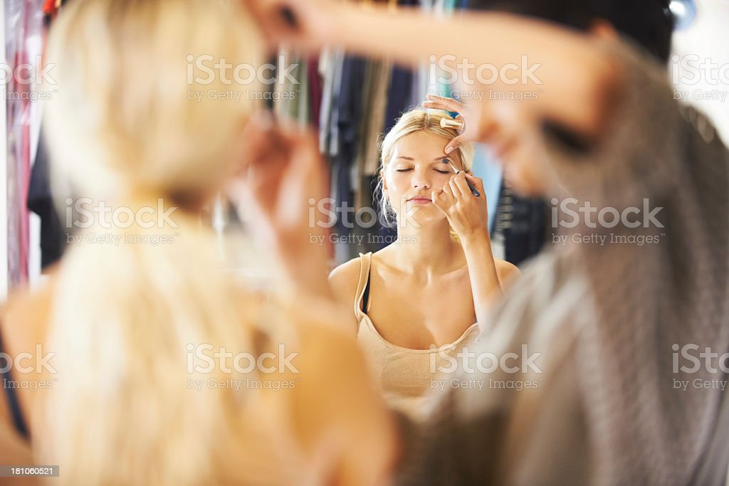 Getting ready for a day on set royalty-free stock photo
