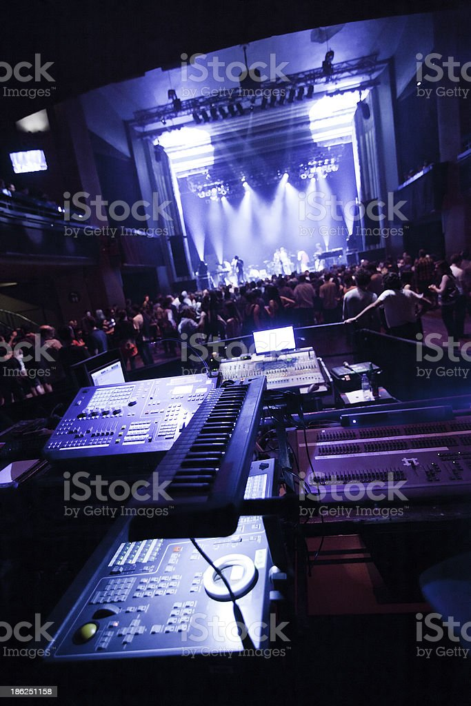 Getting ready for a live concert royalty-free stock photo