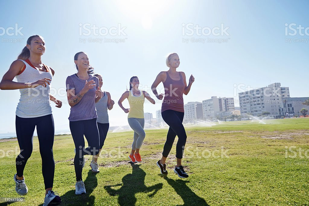 Getting ready for an invigorating jog royalty-free stock photo