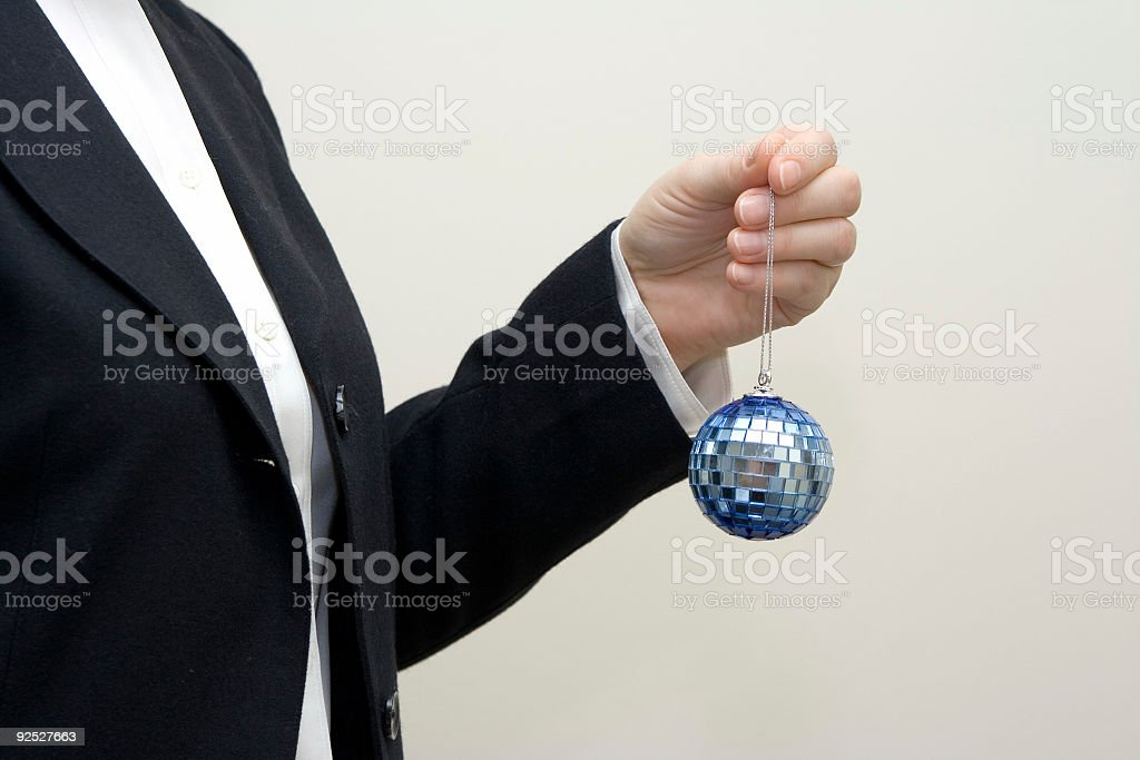 Getting ready for an office party royalty-free stock photo