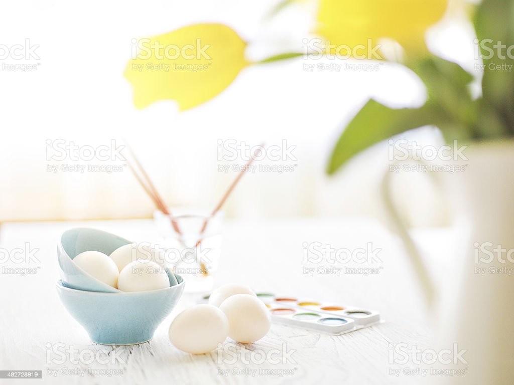 Getting ready for Easter royalty-free stock photo