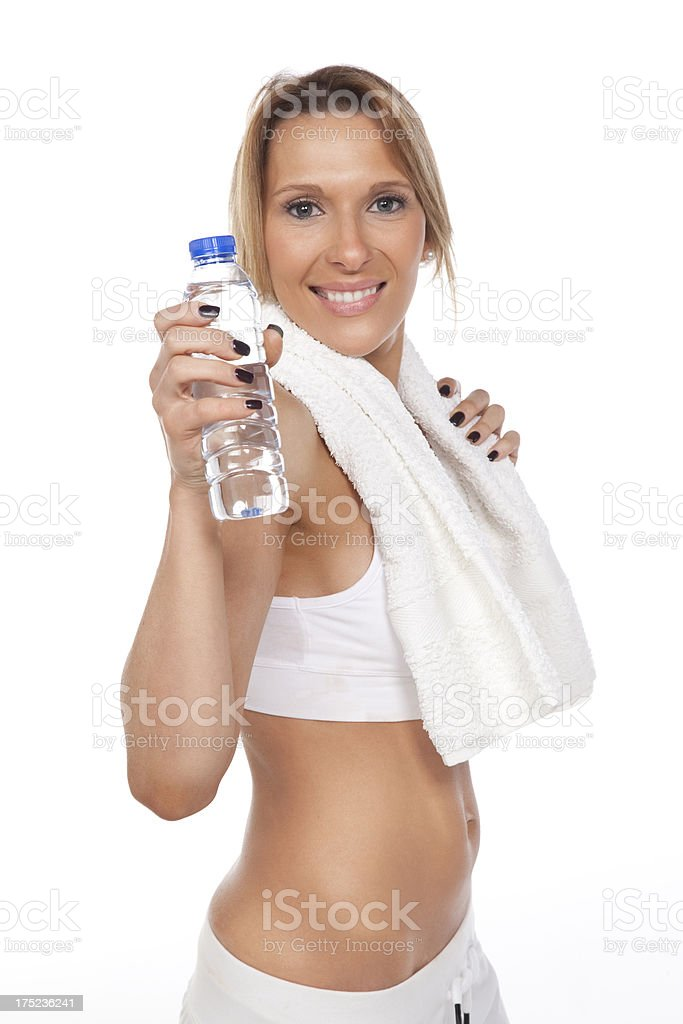 Getting ready for fitness royalty-free stock photo