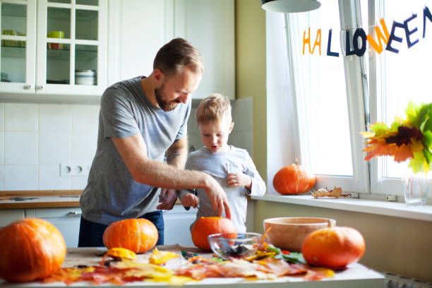 Getting ready for Halloween stock photo