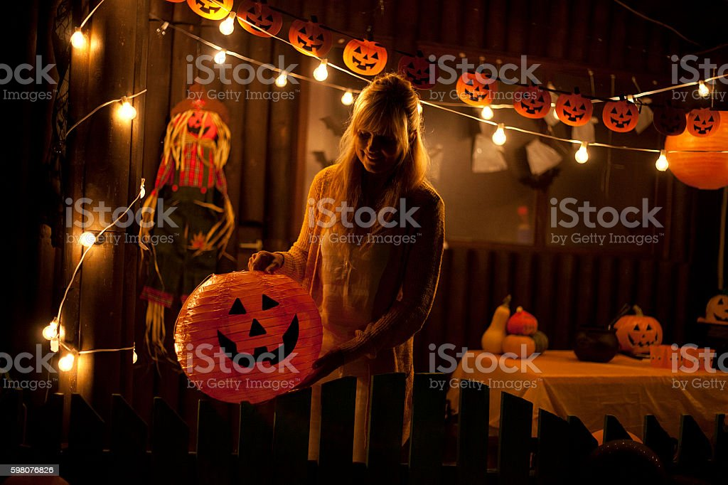 Getting Ready For Halloween Royalty Free Stock Photo