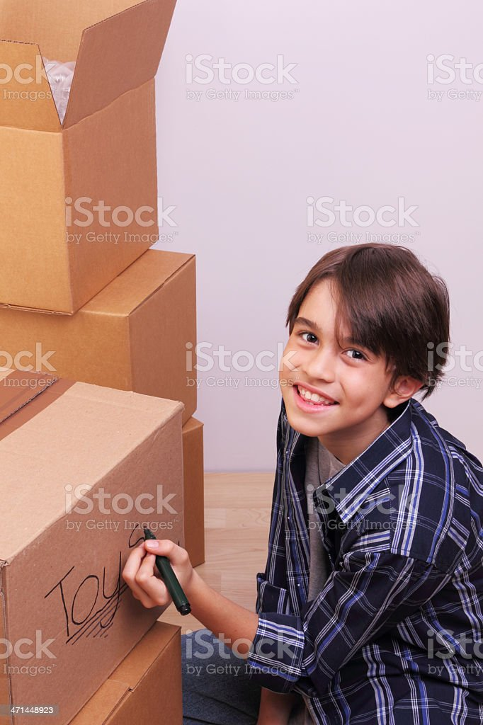 Getting ready for moving day royalty-free stock photo