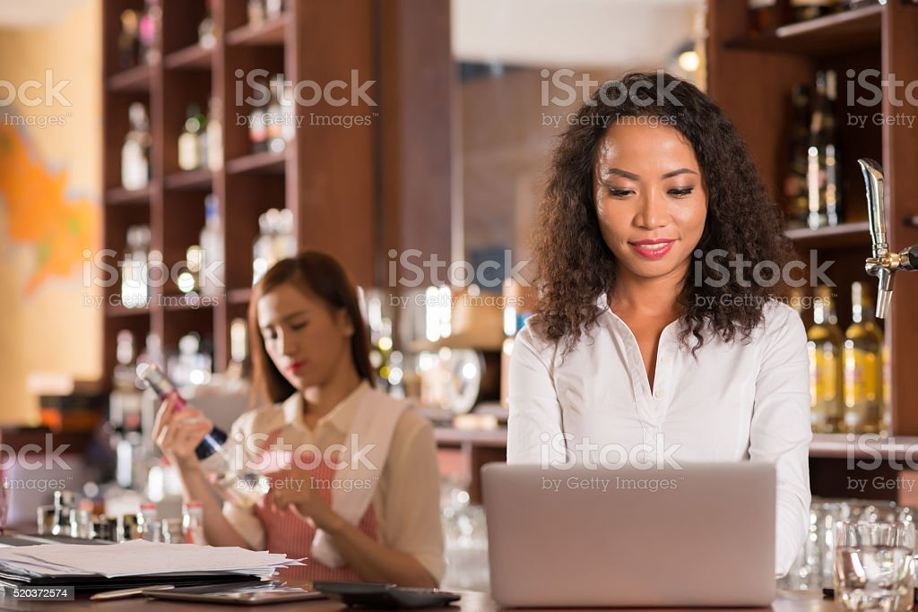 Getting ready for opening stock photo