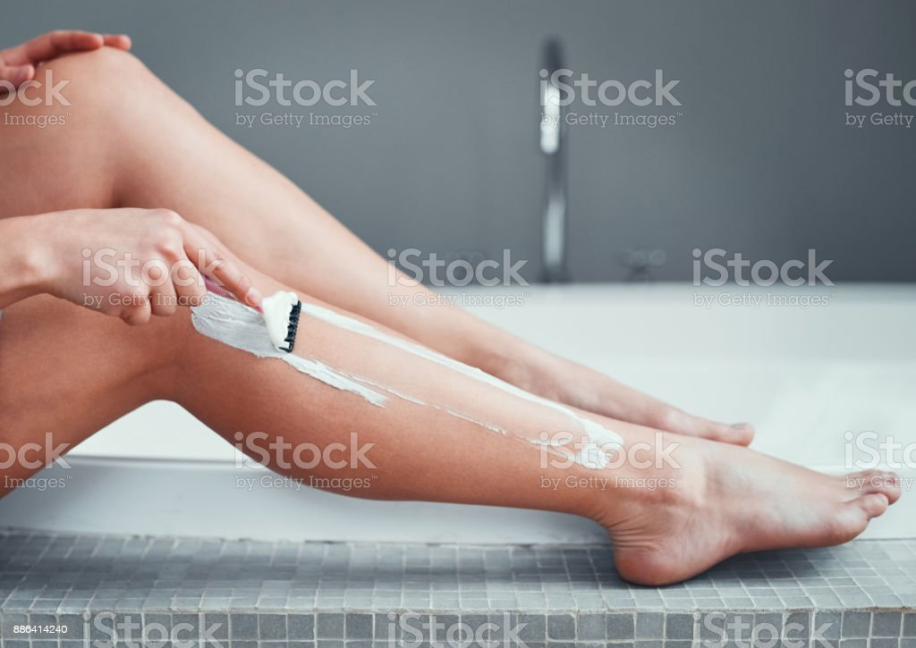 Getting ready for shorts and skirts stock photo