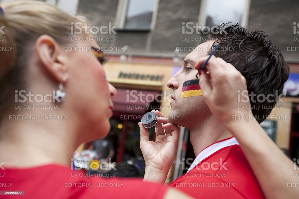 Getting ready for the Berlin Carnival of Cultures royalty-free stock photo