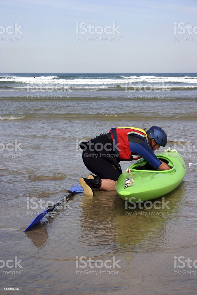 Getting ready for the surf royalty-free stock photo