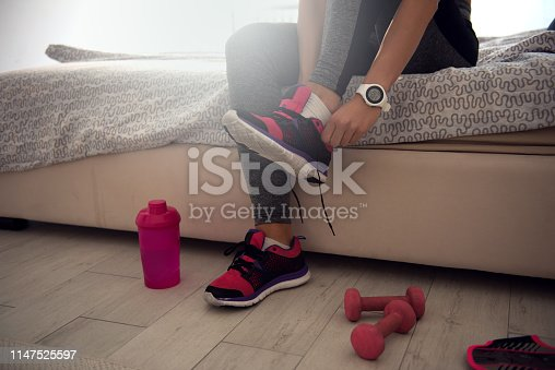 istock Getting ready for training 1147525597