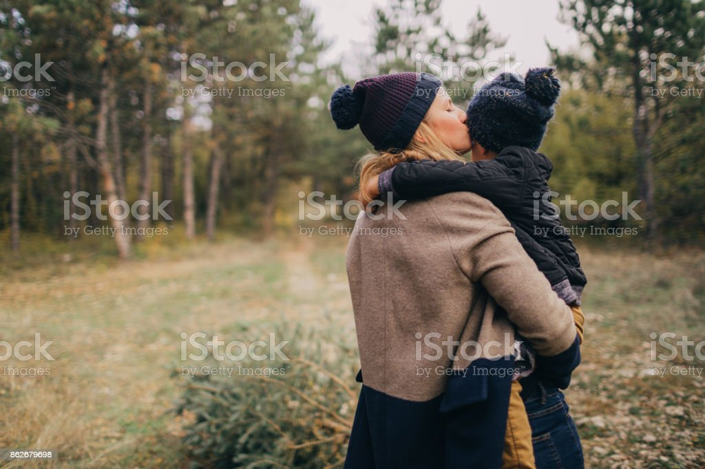 Getting ready for winter holidays stock photo