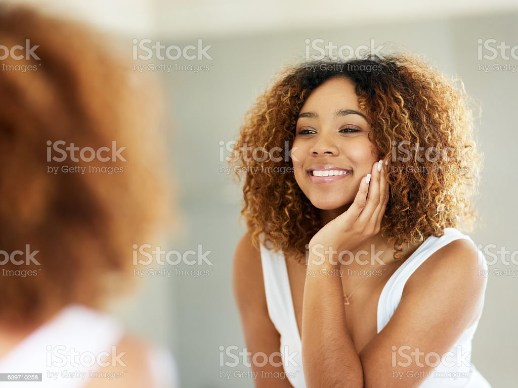 Getting ready in the morning is never a struggle stock photo