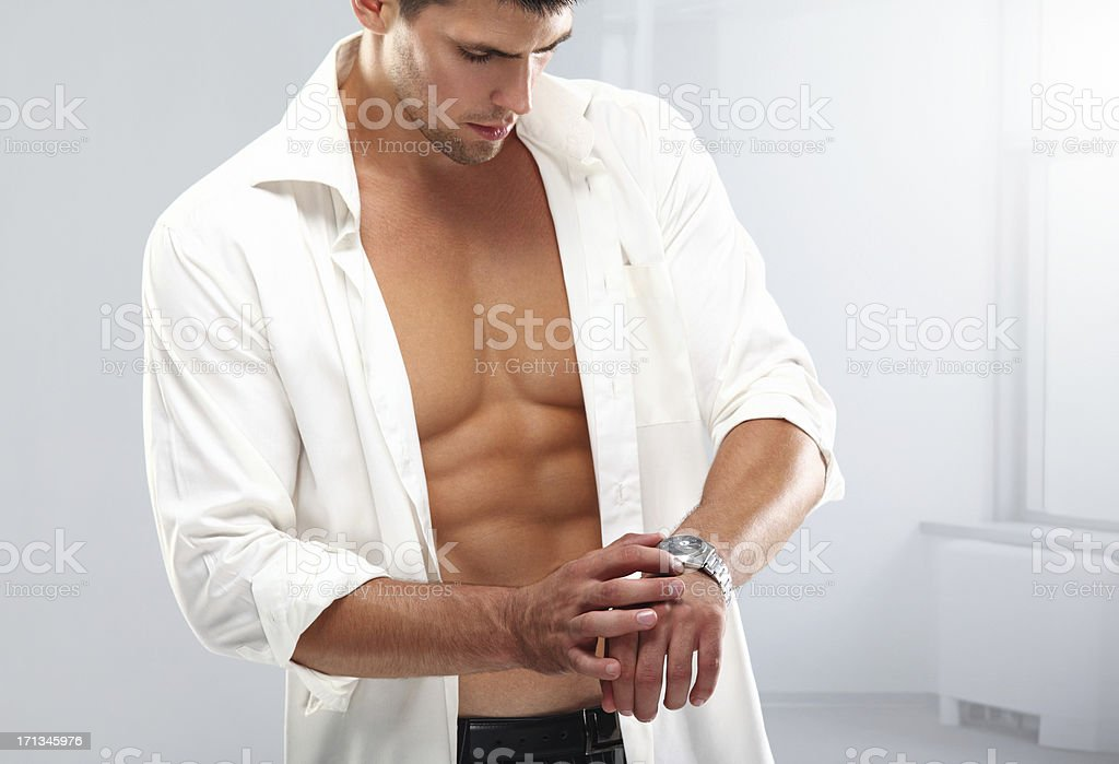 Getting ready. stock photo