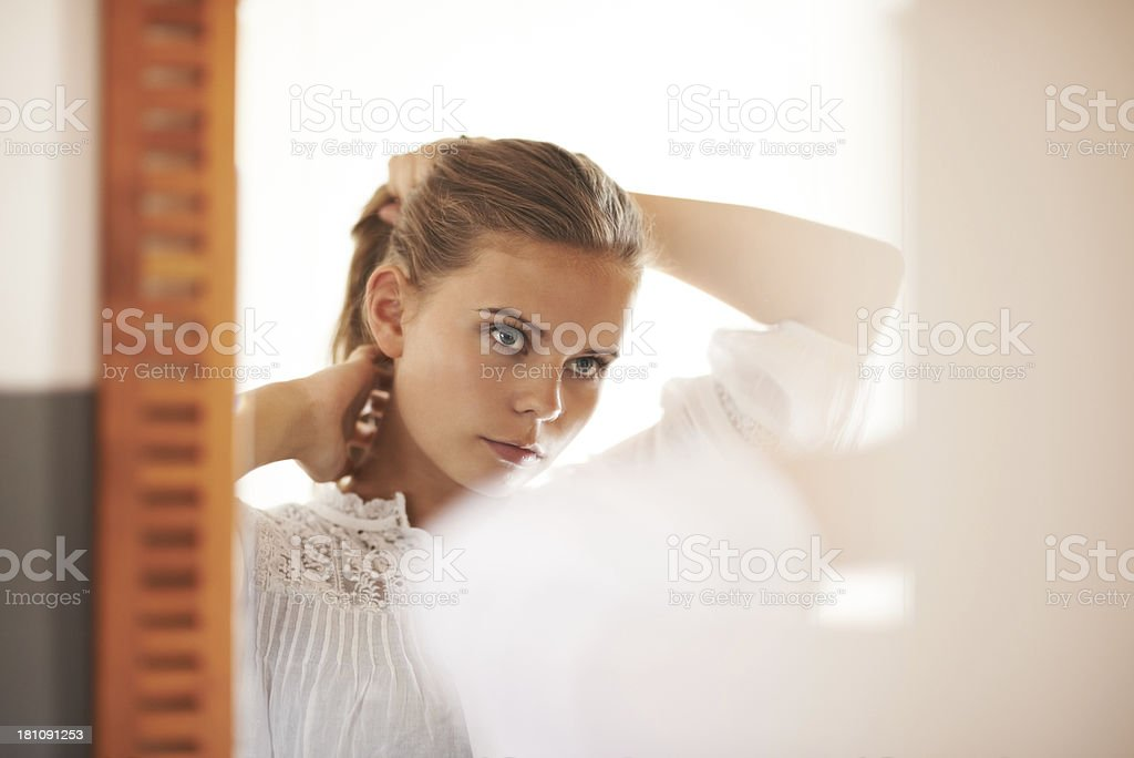 Getting ready royalty-free stock photo