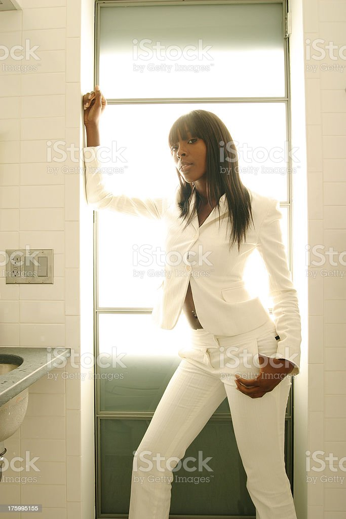 Getting Ready - The Pose royalty-free stock photo