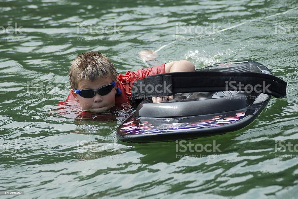 Getting Ready to Kneeboard royalty-free stock photo