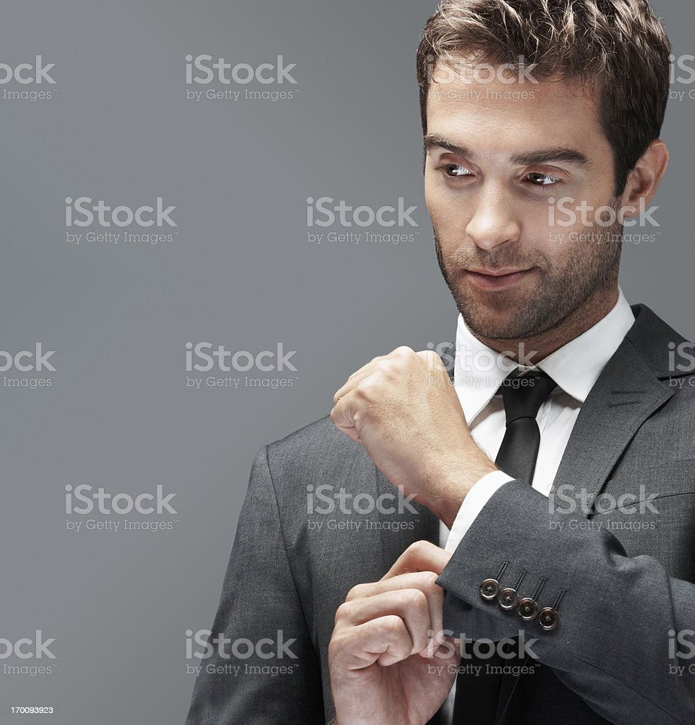 Getting ready to roll the corporate dice royalty-free stock photo