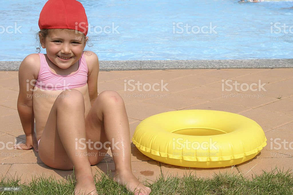 getting ready to swim royalty-free stock photo