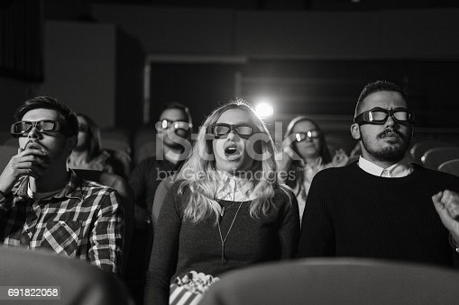 istock Getting scared at the cinema 691822058
