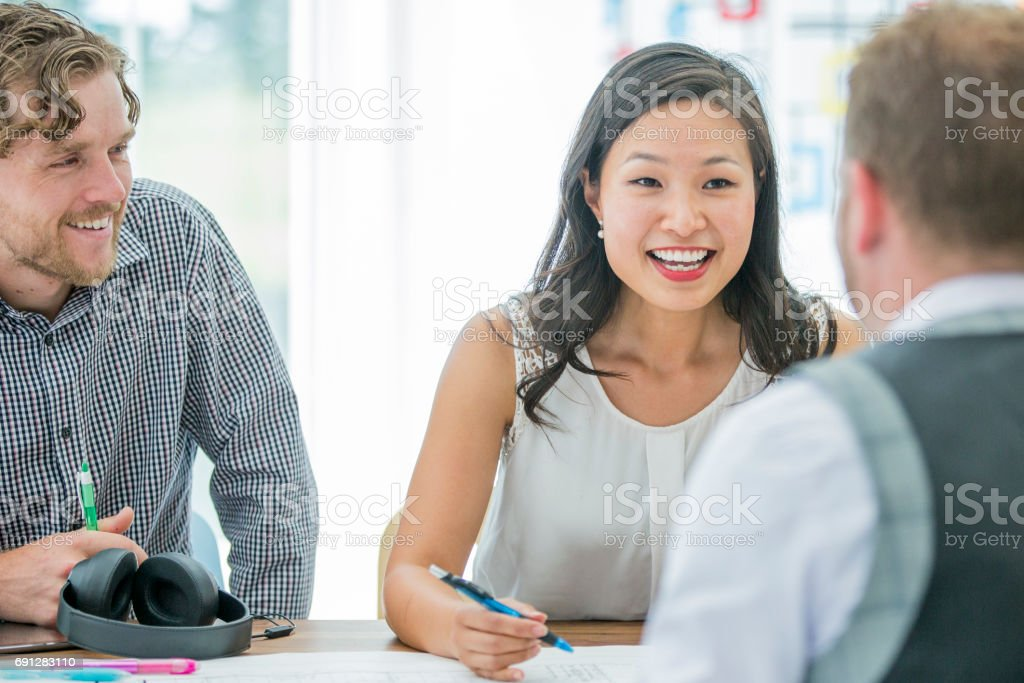 Getting Silly in the Office stock photo