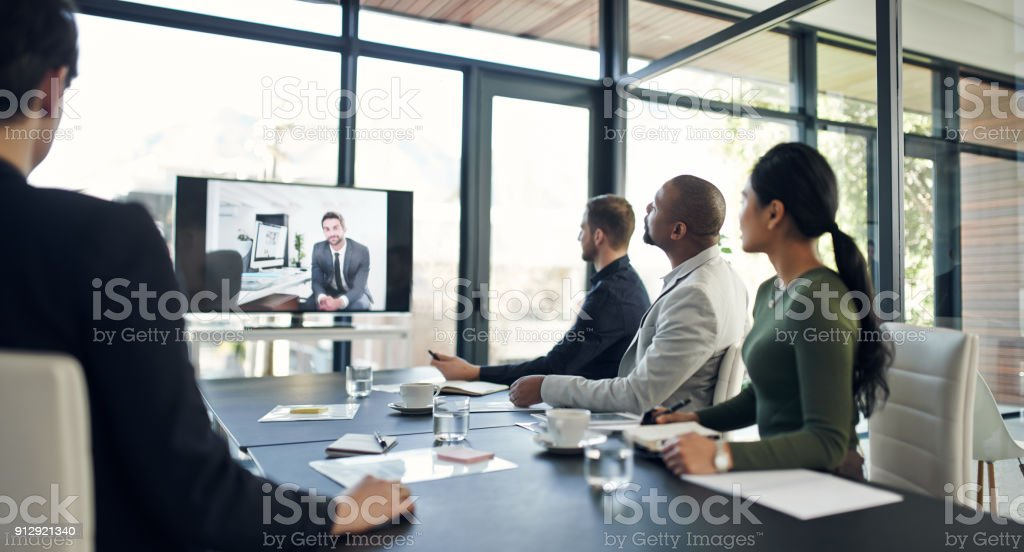 Getting some advice from one of our partners stock photo
