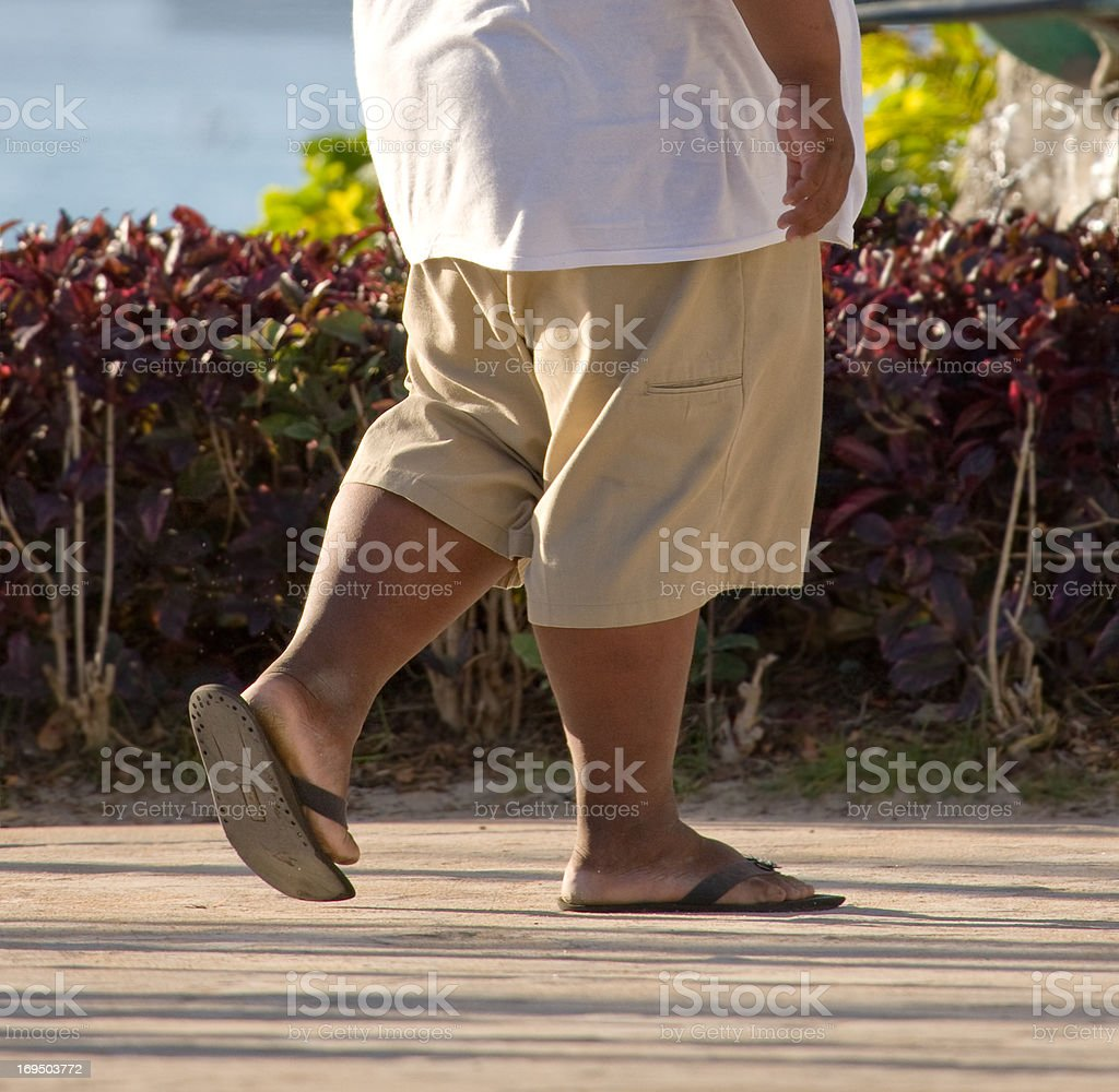 Getting some exercise royalty-free stock photo
