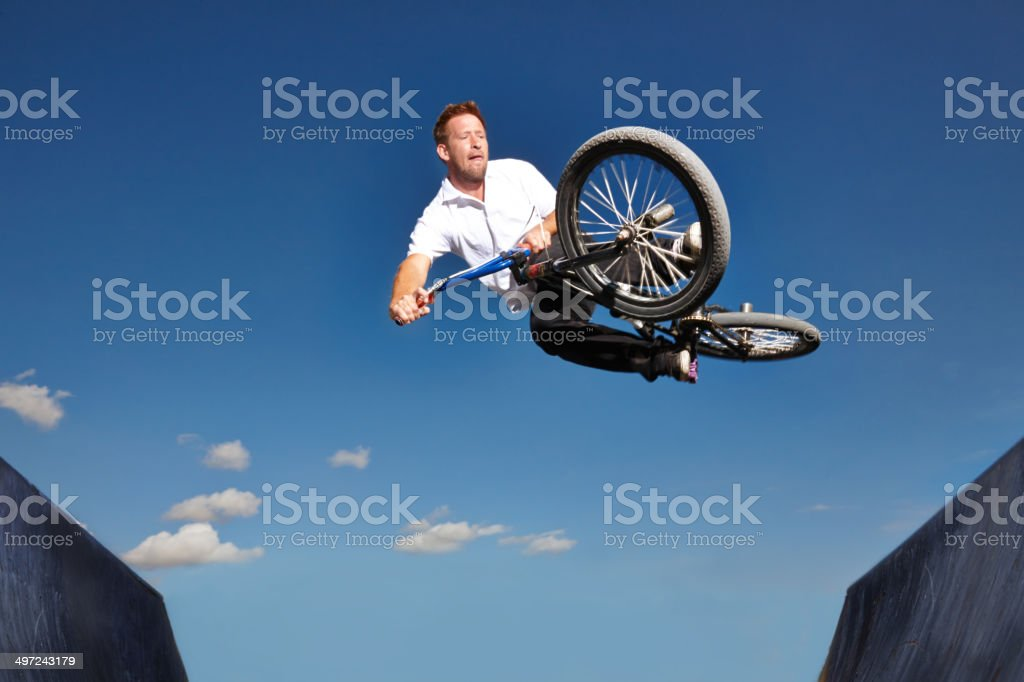 Getting some major air stock photo