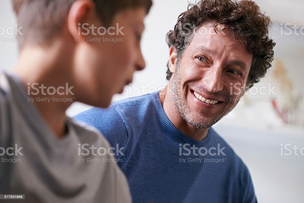 Getting some man time in stock photo