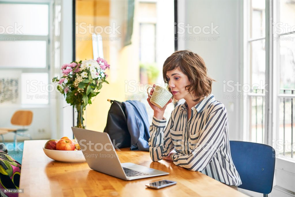 Getting started on success with a fresh cup stock photo