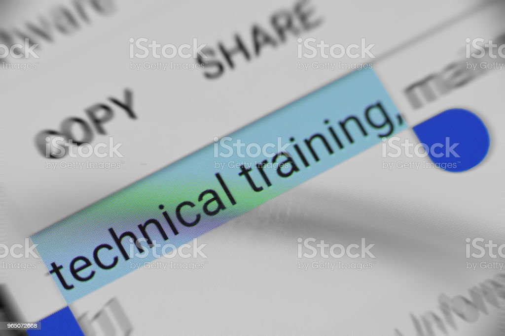 Getting Technical training online royalty-free stock photo