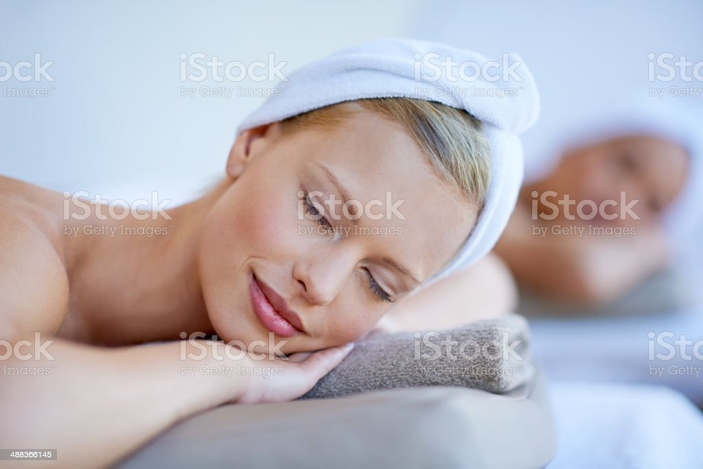 Getting the best treatment at the spa royalty-free stock photo